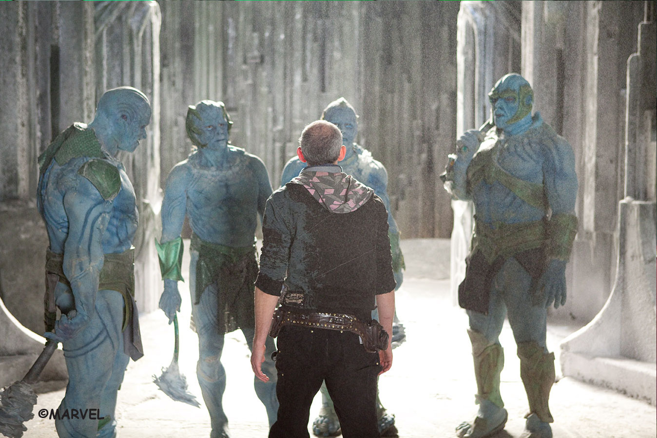Paradox directs the frost giants on the set of Thor