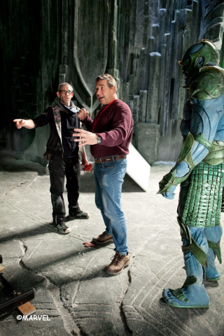 Paradox and Kenneth Branagh on the set of Thor